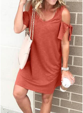 Solid Color Round Neck Classic Cover-ups Swimsuits