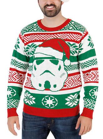 Men's Polyester Print Christmas Sweatshirt