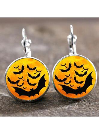 Czaszka Halloween Czarownica Stop Kolczyki 2 szt