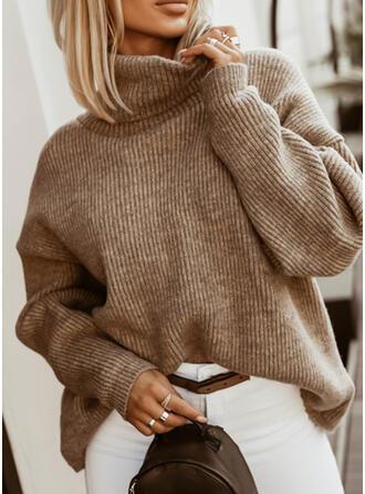 Jednolity Golf Nieformalny Swetry