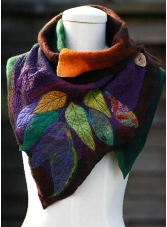 Retro/Vintage/Leaves/Colorful fashion/Comfortable/Leaves Shaped Scarf
