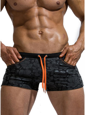 Men's Drawstring Quick Dry Swim Trunks