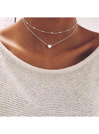 Piękny Modny Seksowny Serce Walentynki Stop Dla kobiet Dziewczyny Naszyjniki Biżuteria plażowa