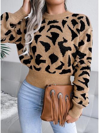 lampart Okrągły dekolt Nieformalny Swetry