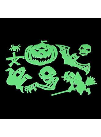 Przerażające Nietoperz Halloween Duch Dynia Szkielet Plastikowy Naklejka Dekoracje na Halloween