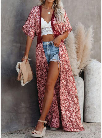 Floral Splice color Strap Fashionable Fresh Cover-ups Swimsuits