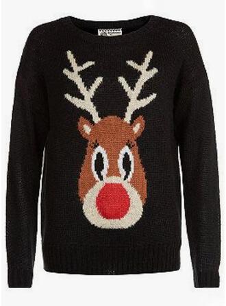 Unisex Poliester Deer Brzydki świąteczny sweter