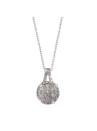 Charming Pretty Artistic Romantic Alloy With Imitation Stones Circle Decor Women's Necklaces