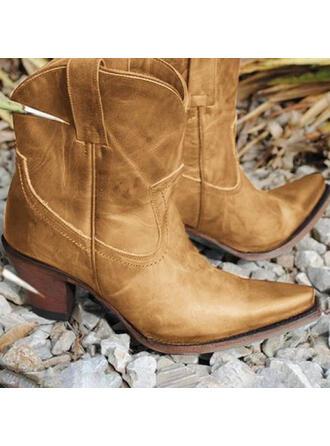 Dla kobiet PU Obcas Slupek Z Jednolity kolor obuwie