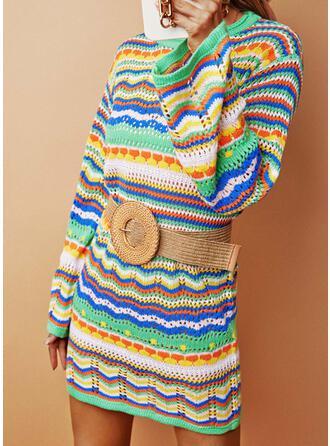 Nadruk Długie rękawy Nieformalny Sukienki