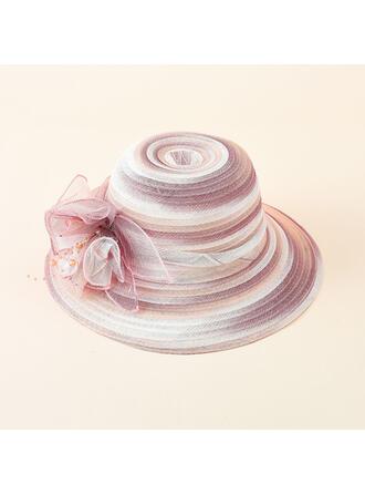 Ladies' Beautiful/Classic/Elegant/Simple Chiffon With Flower Beach/Sun Hats/Bucket Hats