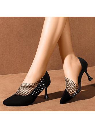 Dla kobiet PU Obcas Stiletto Czólenka Z Imitacja Pereł Jednolity kolor obuwie
