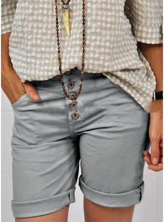Nad kolanem Nieformalny Duży rozmiar Pocket Przycisk Szorty