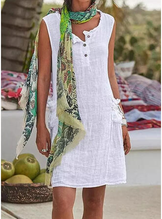 Solid Color Print Strap U-Neck Classic Cover-ups Swimsuits
