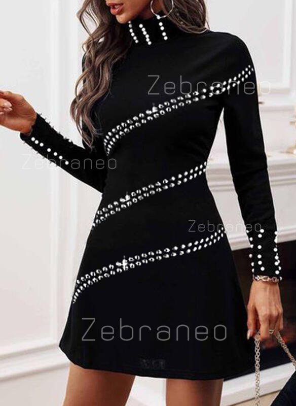 Sequins/Solid/Beaded Long Sleeves Sheath Above Knee Casual Dresses
